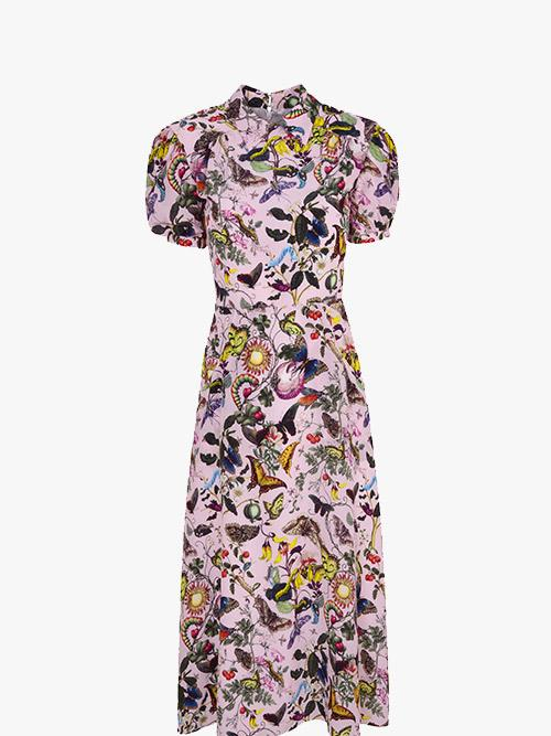 Mary Katrantzou x Fenwick Osprey Dress Light Pink