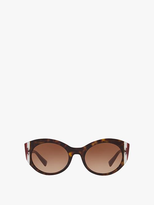 Valentino Retro Oval Sunglasses