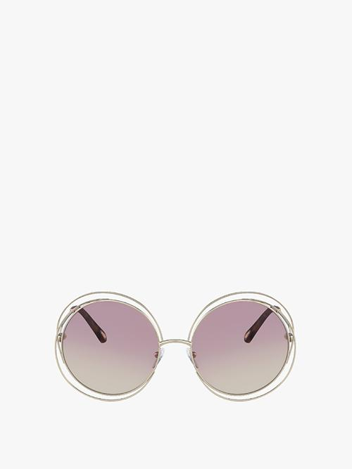 chloe carlina petite sunglasses in gold