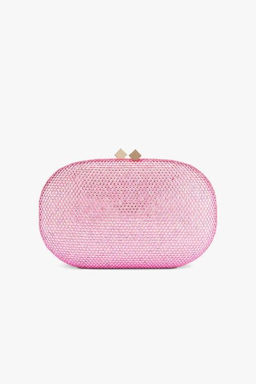 Anna Cecere Oval box crystal clutch