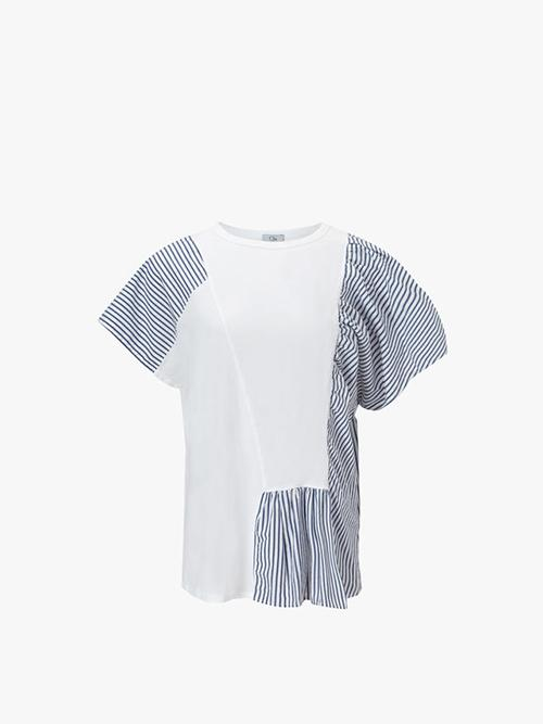 Clu Mix Media Panelled Top