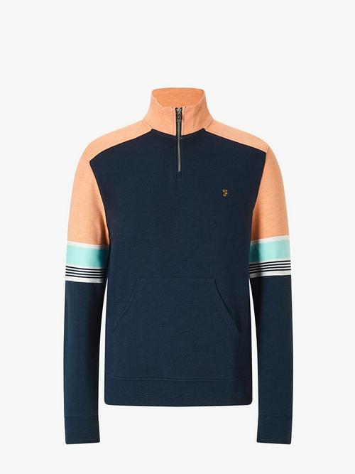 Farah Vintage West Quarter Zip Sweater