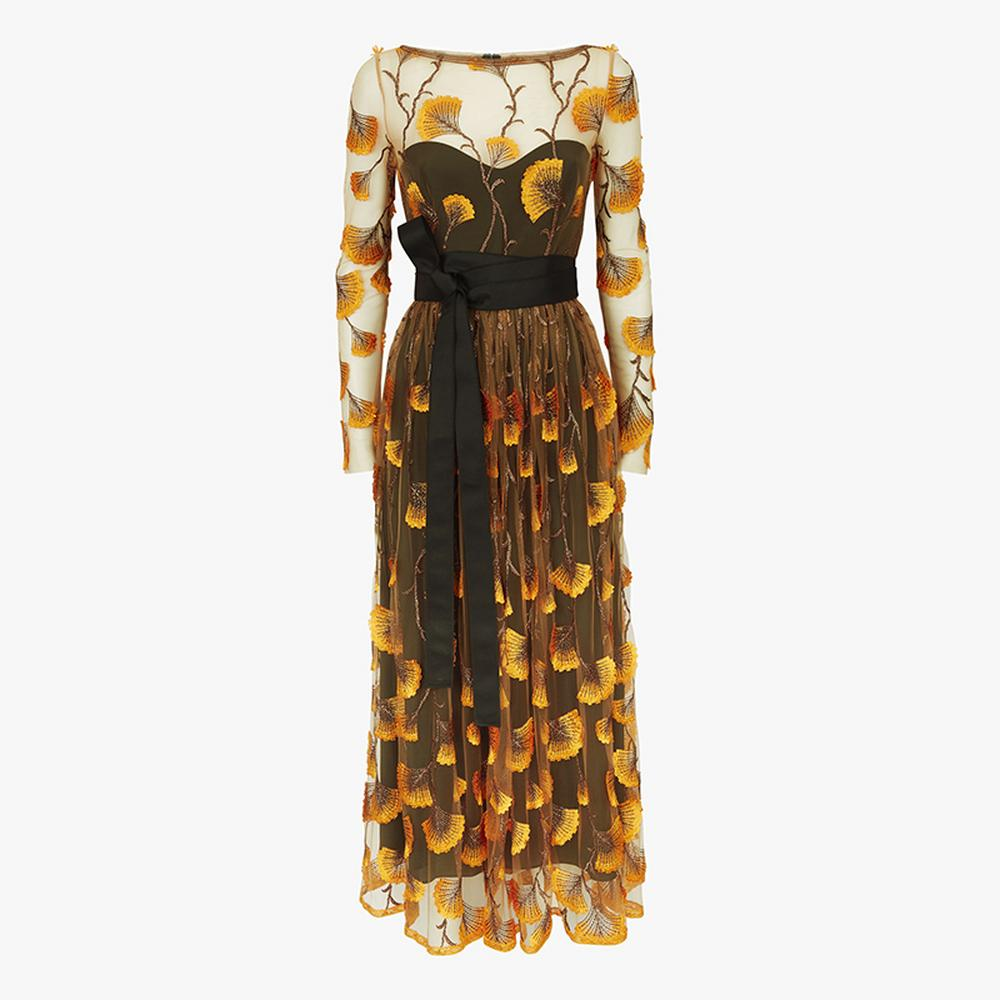 Amanda-Wakeley-Feather-Embroidery-Long-Dress