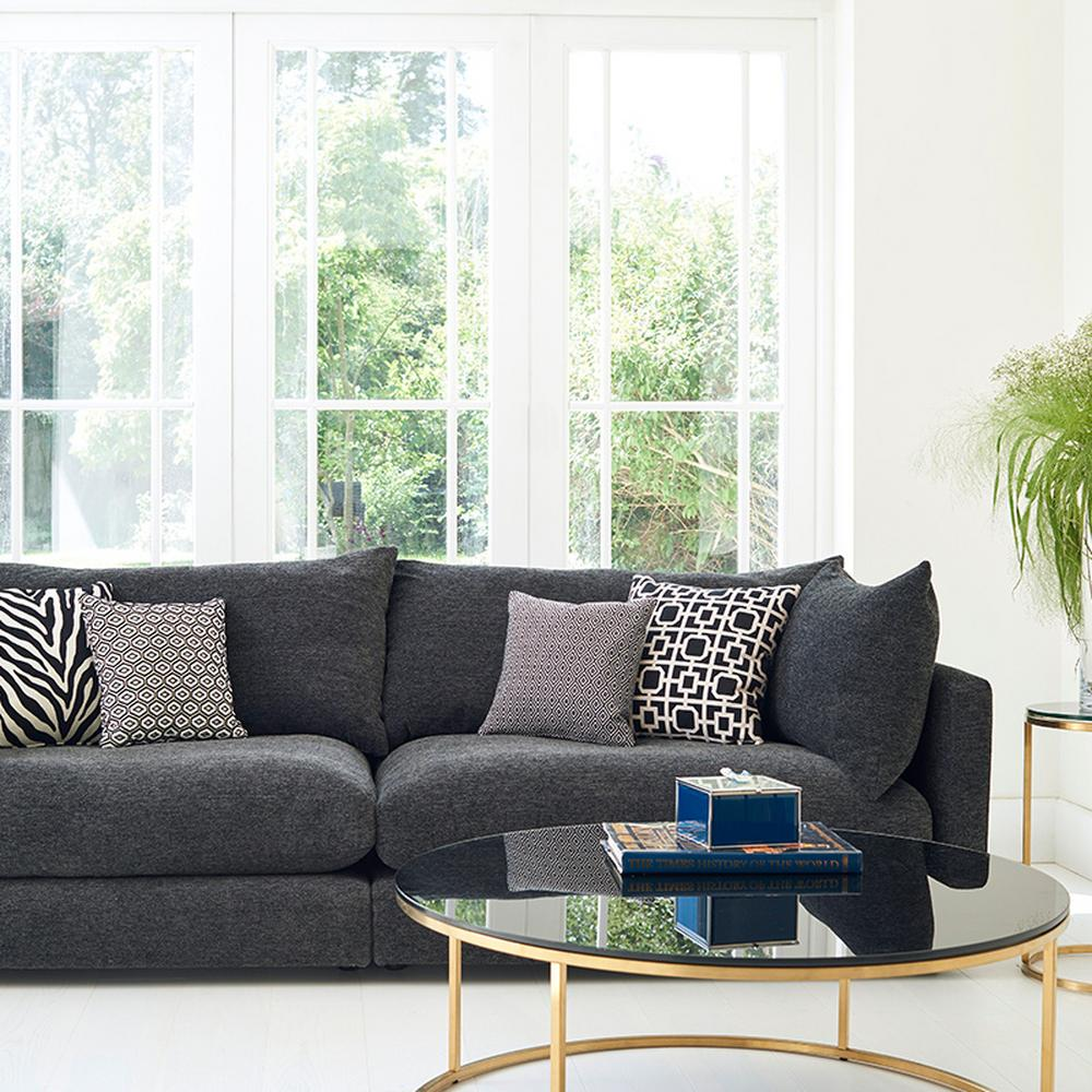 Molton Extra Large Split Sofa in Flair Charcoal