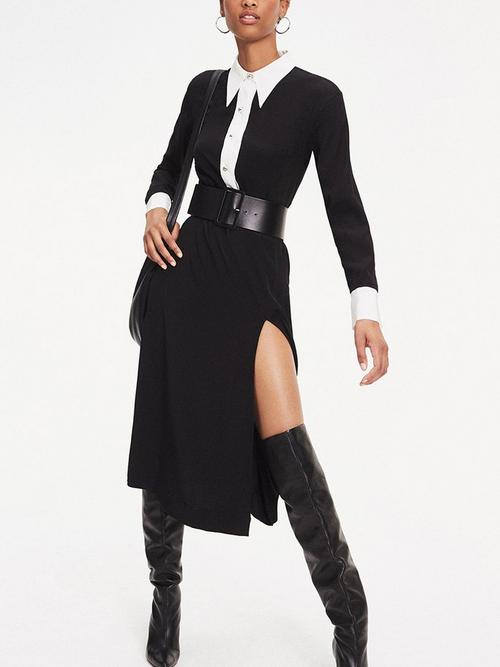 Tommy-Hilfiger-Zendaya-Contrast-Collar-Shirt-Dress