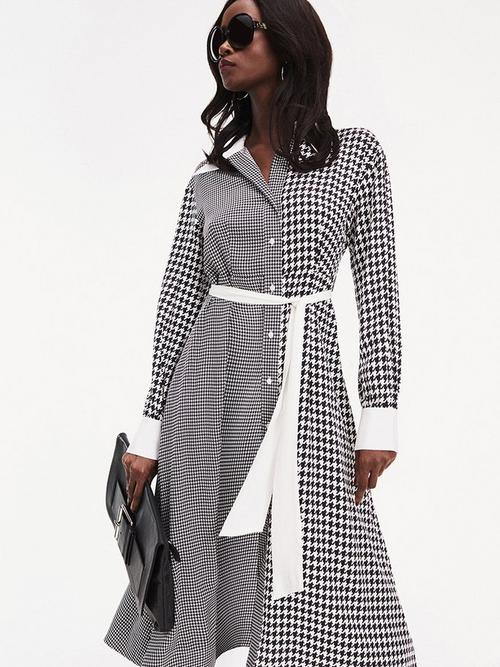 Tommy-Hilfiger-Zendaya-Houndstooth-Shirt-Dress