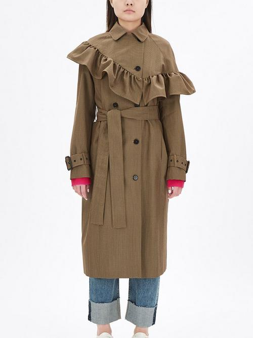 MSGM-Frilled-Trench-Coat