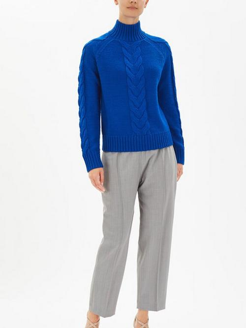 Joseph High Neck Chunky Cable Sweater