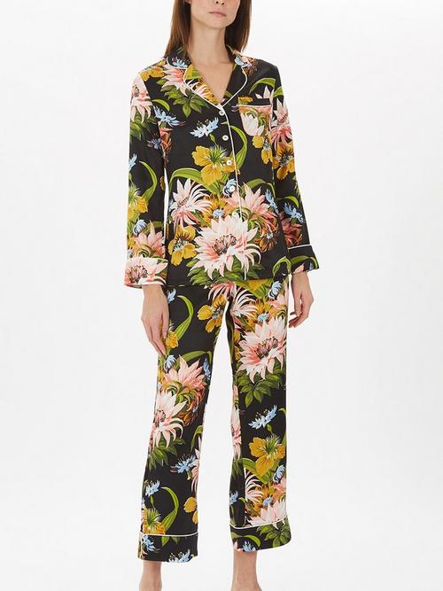 Olivia-Von-Halle-Print-Long-Silk-PJ-Set
