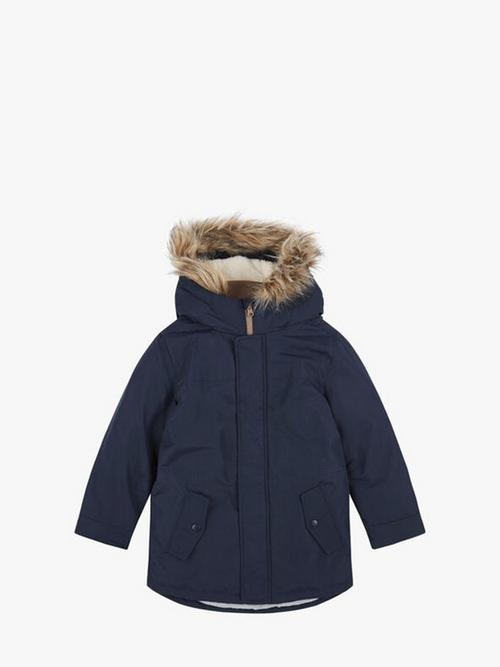 Benetton Padded Jacket With Faux Fur