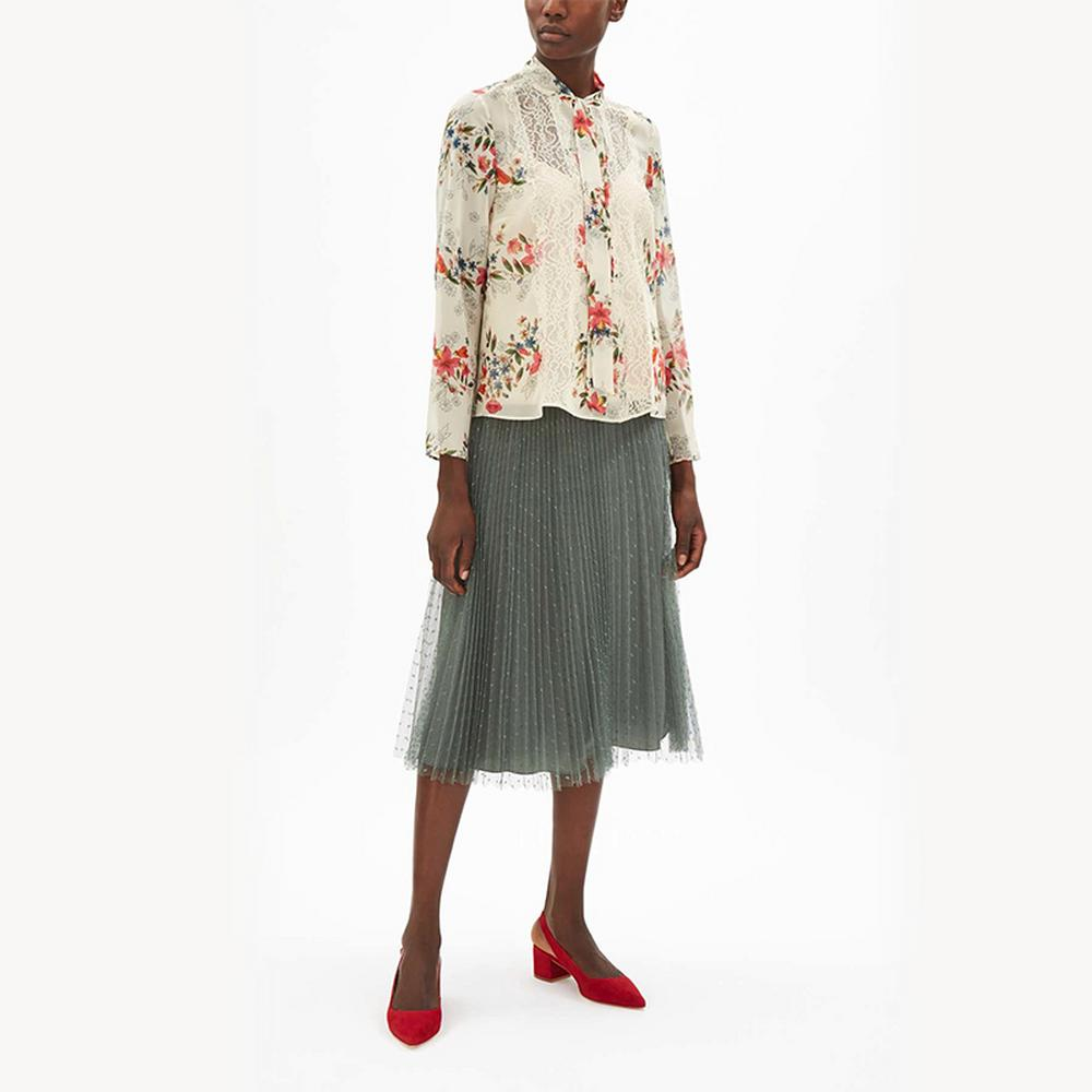 REDValentino-Floral-Tie-Neck-Blouse
