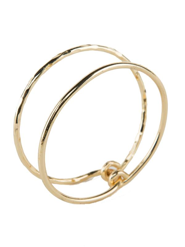 Tutti & Co Shelter Bangle in Gold