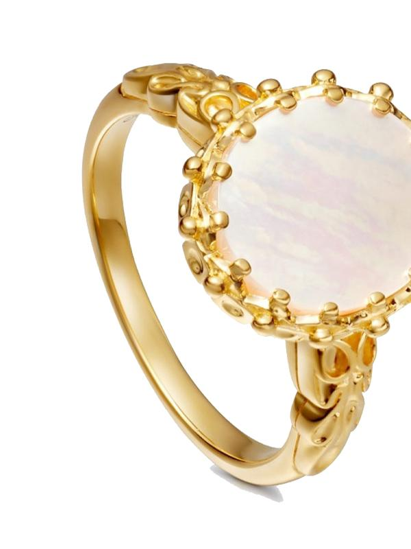 Astley Clarke Mother of Pearl Large Floris Ring