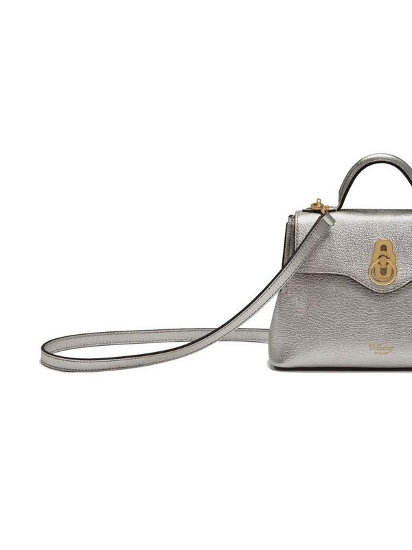 mulberry micro seaton in metallic silver