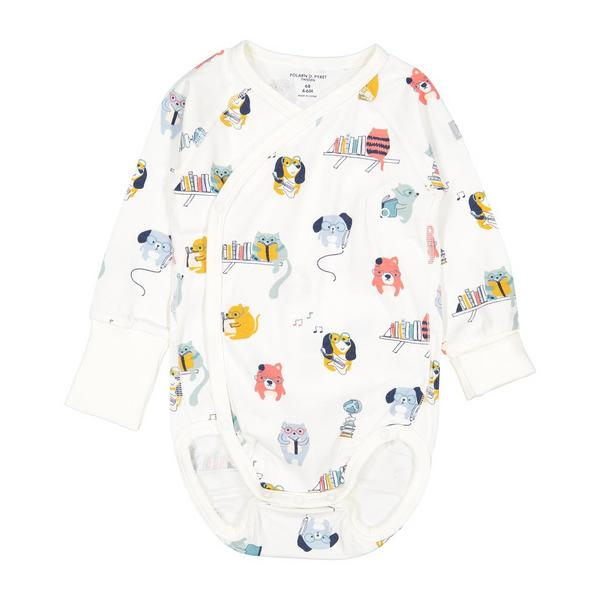 polarn o pyret Dogs and Cats Newborn Baby Bodysuit