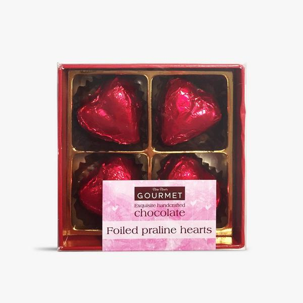 red foiled chocolate hearts