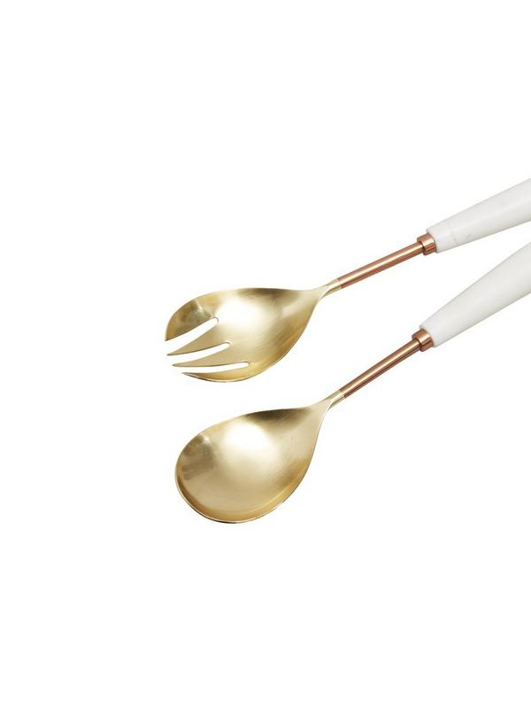 french connection home copper marble salad servers