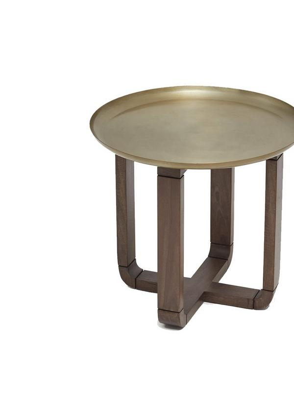 french connection home brass tray table