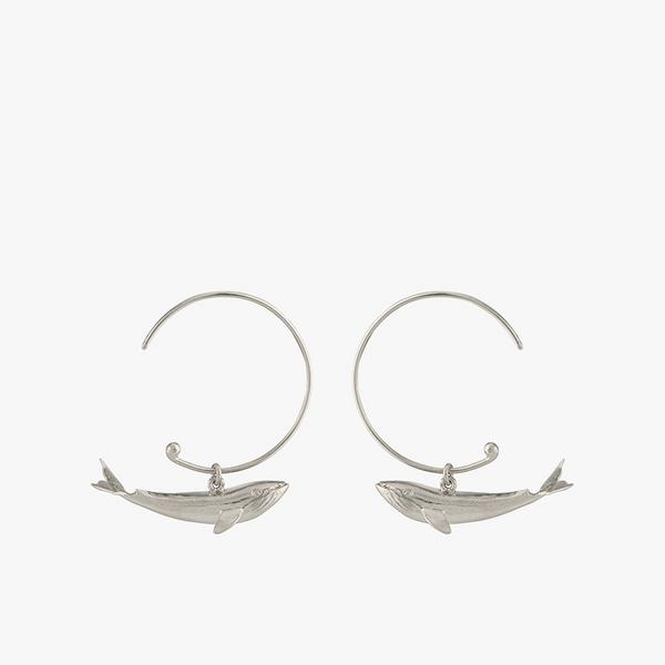 alex monroe whale hoop earrings