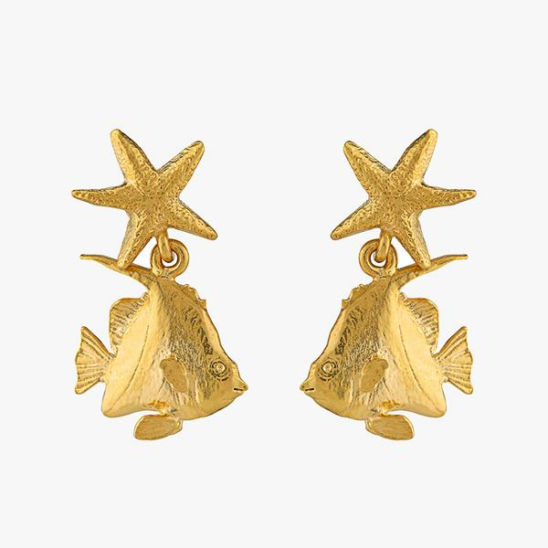 alex monroe angelfish earrings
