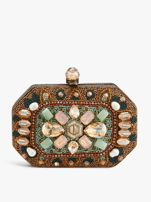 Amishi Beaded Clutch