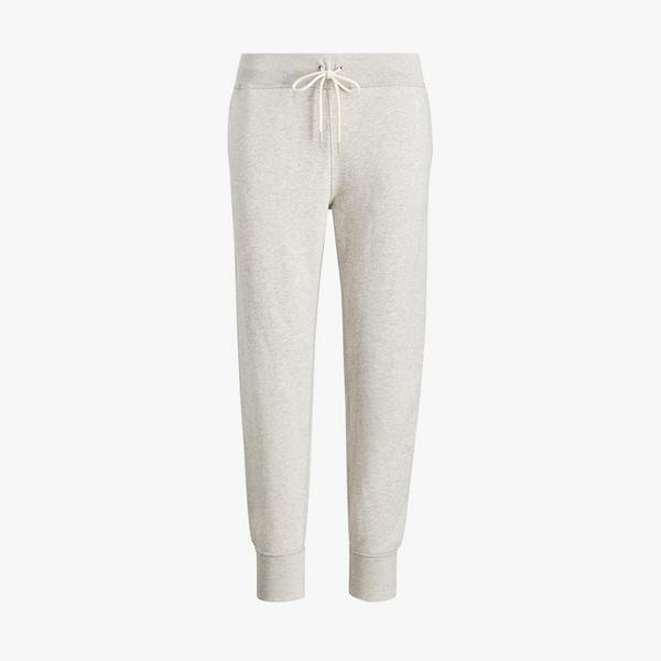 polo ralph lauren fleece jogger bottoms in heather