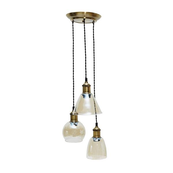 french connection brass cluster pendant light