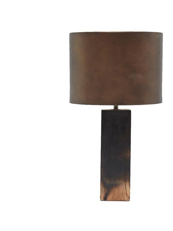 french connection burnt wood ombre table lamp