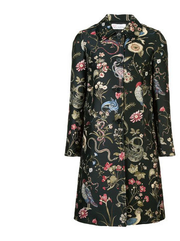 red valentino bird print coat