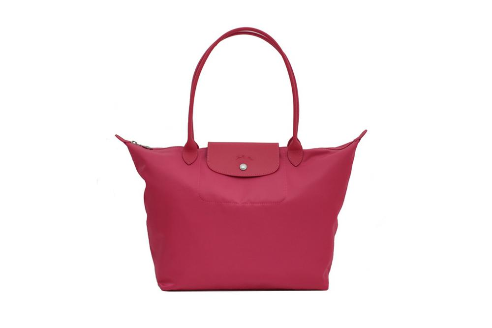 longchamp long handle large rose handbag