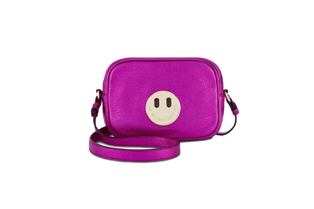hill & friends happy mini bag in metallic pink