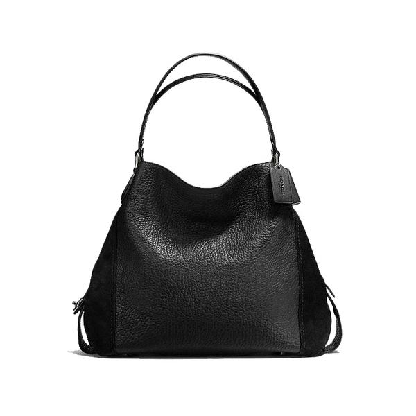 Coach Edie Mixed Leather Handbag