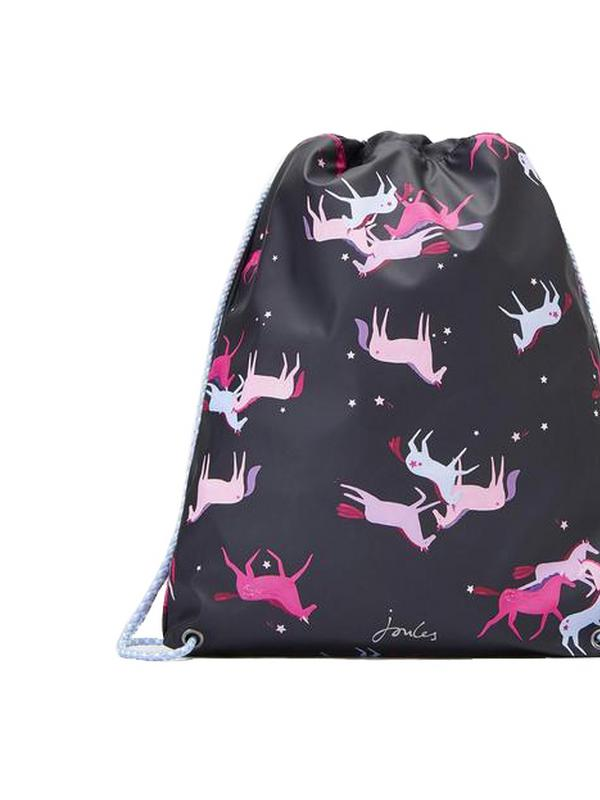 joules magic unicorn rubber drawstring bag
