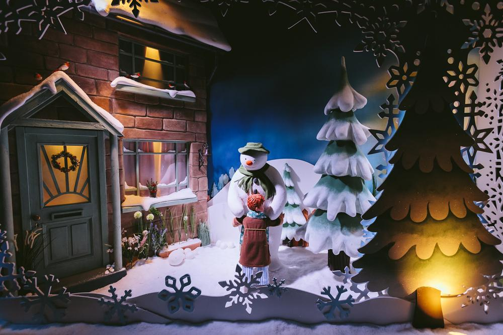 snowman fenwick newcastle christmas windows 2018