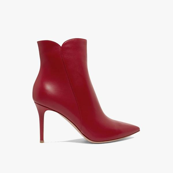 Gianvito Rossi Levy 85 Ankle Boots in Red