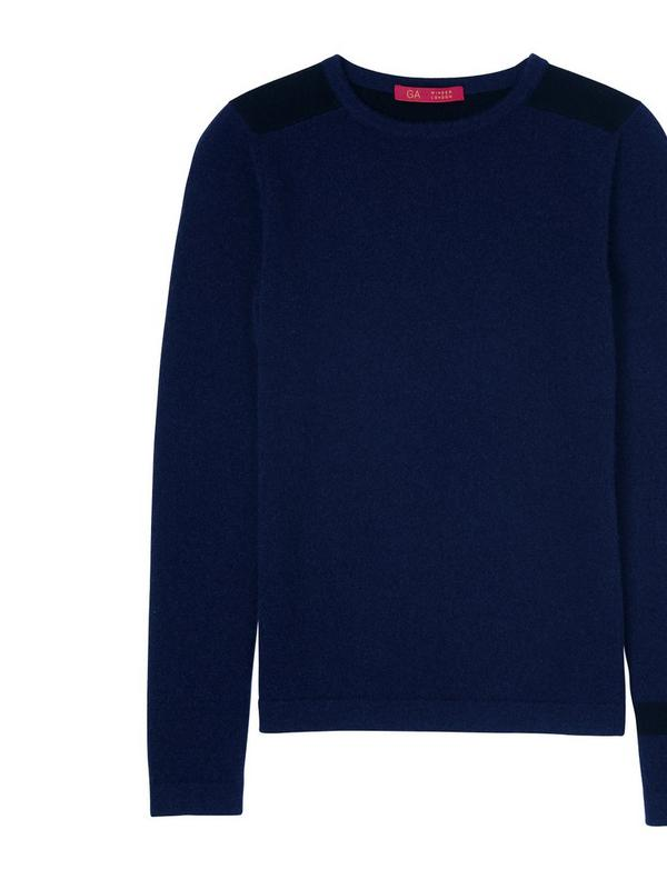 gillian anderson cashmere fitted jumper