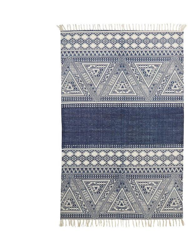 french connection indigo aztec rug