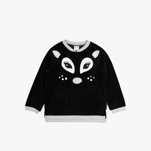 Polarn O. Pyret Deer Appliqué Velour Kids Top