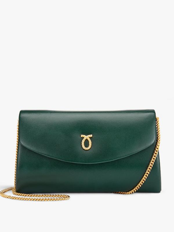 Launer High Society Bag in Forest Green