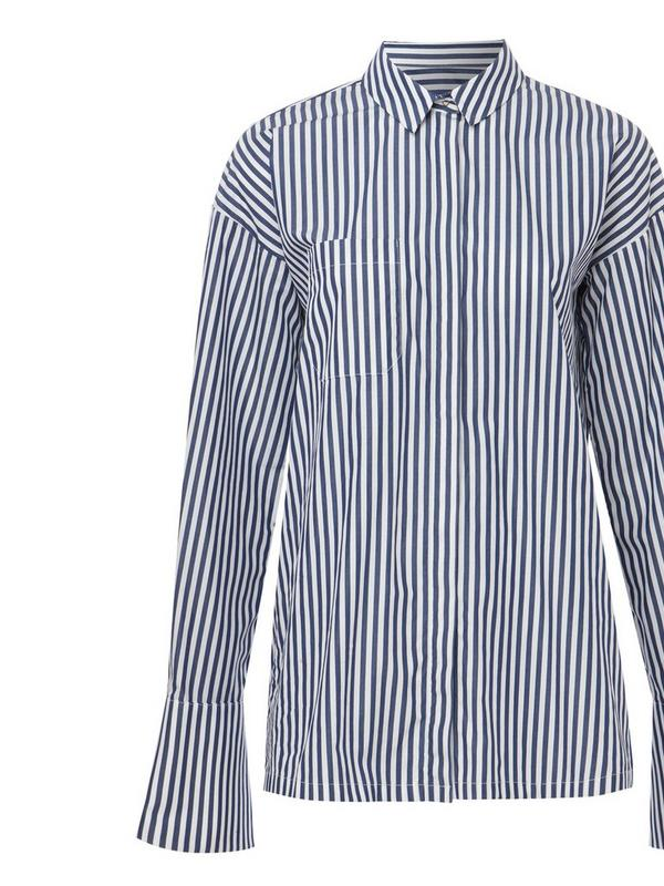 Mother of Pearl striped organic cotton shirt