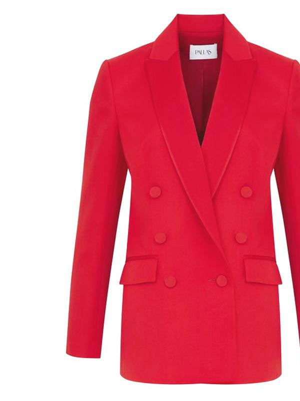 pallas double breasted jacket in red