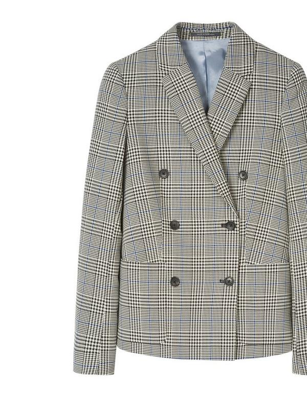 ps paul smith check cotton double breasted blazer