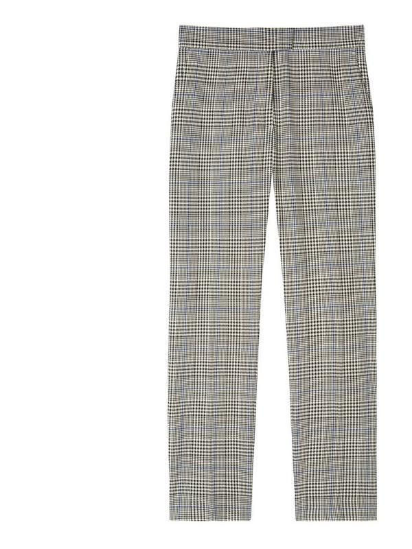 ps paul smith check cotton slim fit trousers