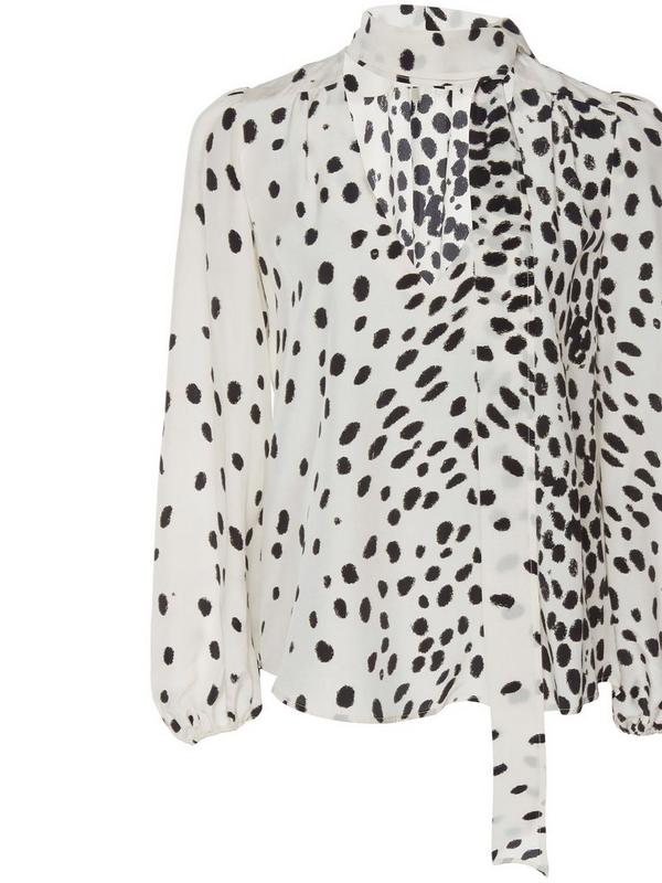 rixo moss top in leopard