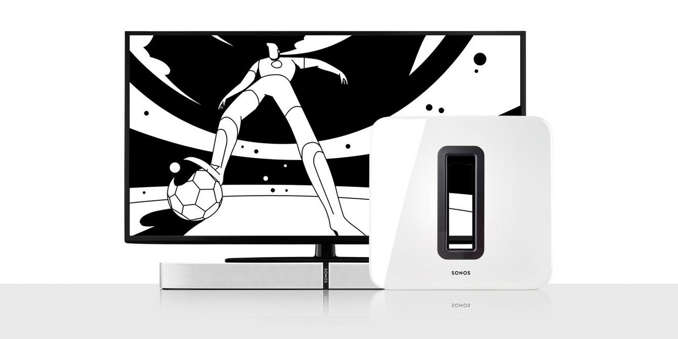 graphic of television with man playing football
