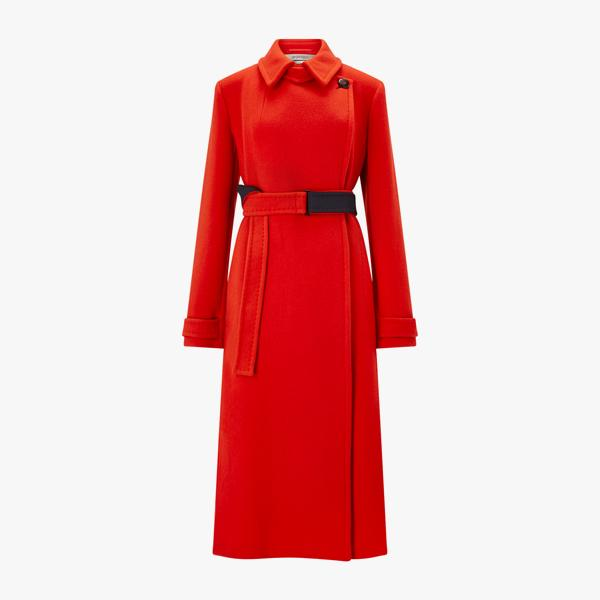 Sportmax Ceci Coat in Red