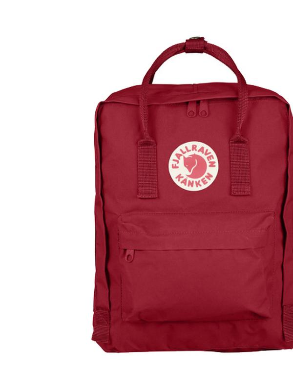 fjallraven kanken backpack in deep red