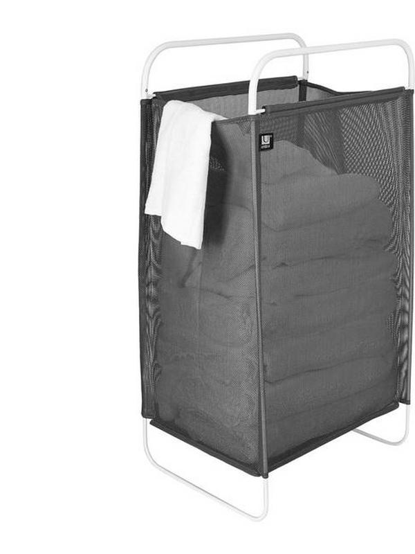 umbra cinch laundry hamper in grey charcoal
