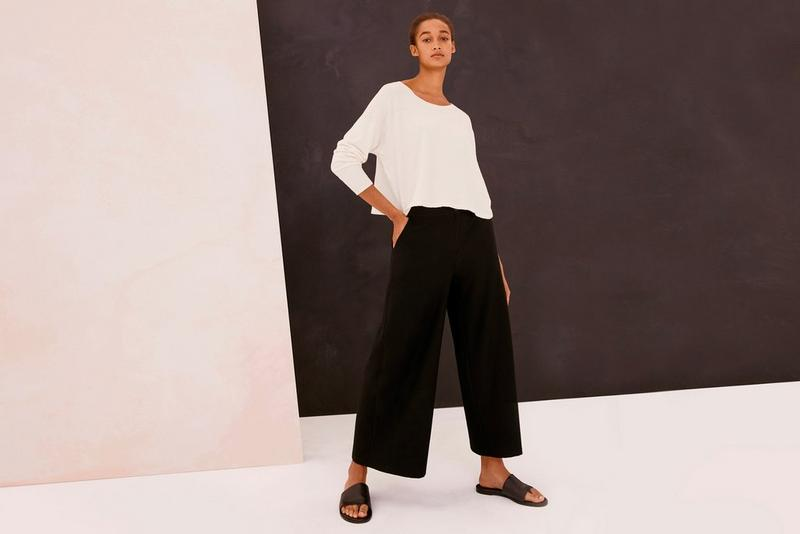 eileen fisher travel outfits