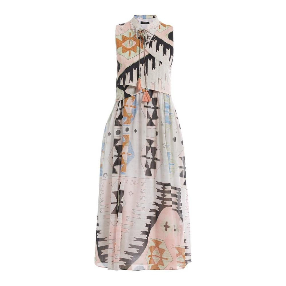 weekend maxmara umbro patterned maxi dress